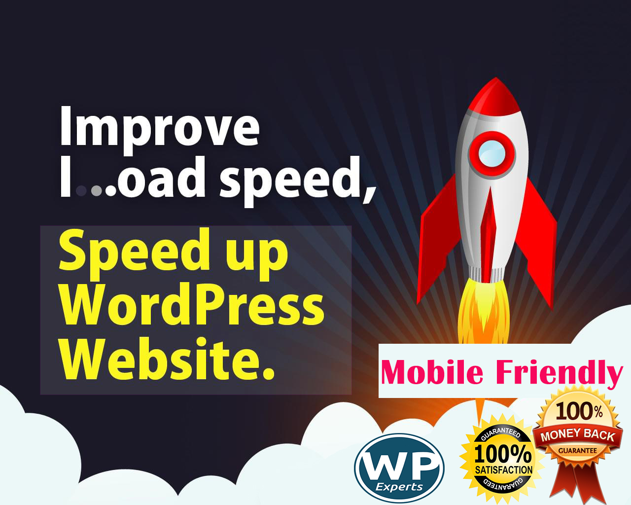 I will do mobile friendly,  speedy wordpress site for you