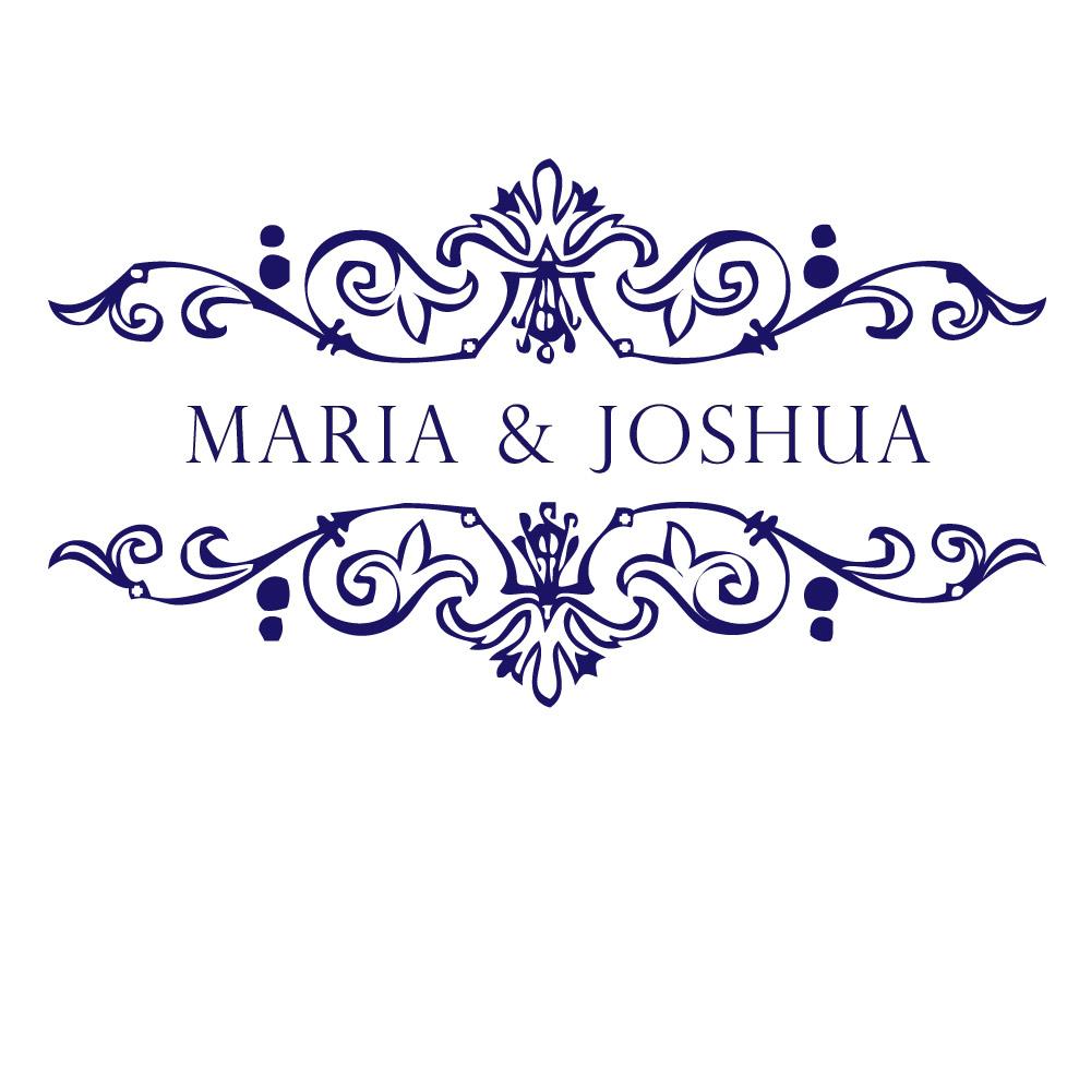 Design luxury wedding monograms