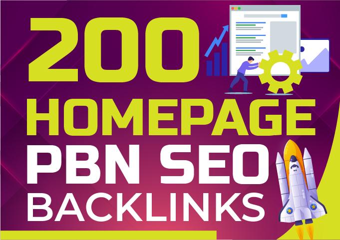 Get 200 DA 50+ Homepage PBN SEO Backlinks - Skyrocket your rankings