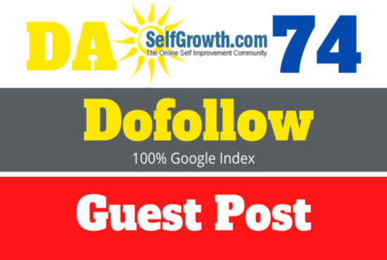 Write and Publish Guest on Selfgrowth