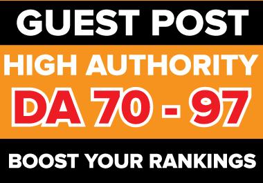 I will publish HQ 10 guest post on high da pa