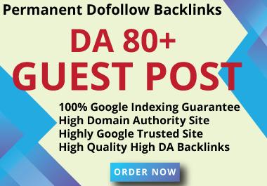 I will publish HQ 5 guest post on high da 80 plus site