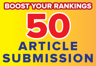 I will do 50 article submission in SEO backlinks