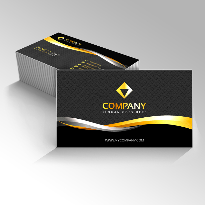 Pro business card design for a reasonable price in 2 days