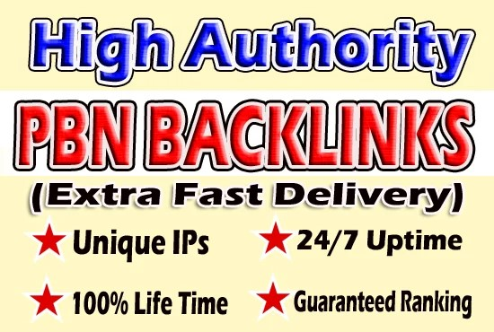Give You 10 Powerful DA30+ PBN BackLinks