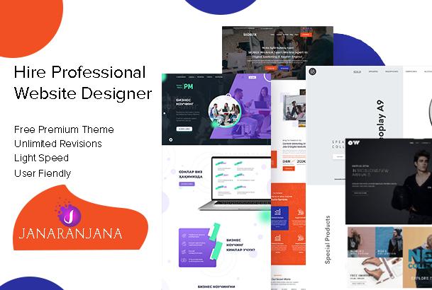 Professional wordpress Website Design or shopify full website creation
