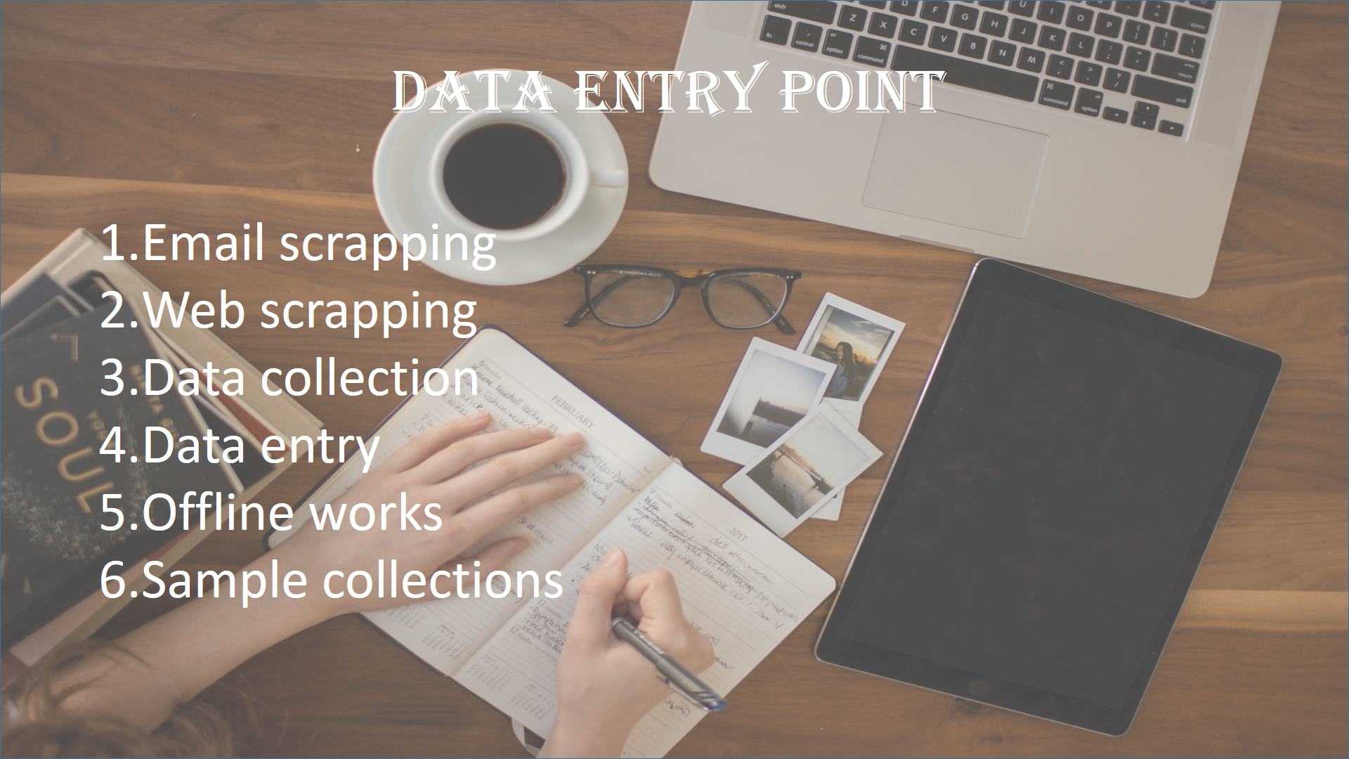 i will do all types of data entry works