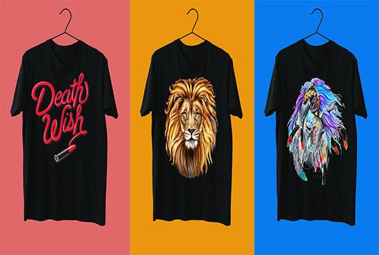 i will design amazing tshirts fast