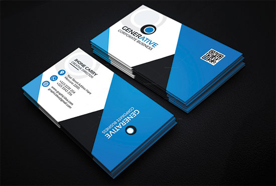 I will design a professional business card fast