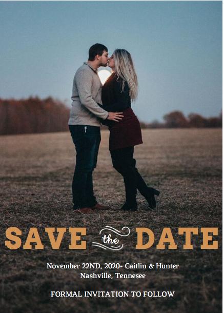 Custom Save The Date Invitations