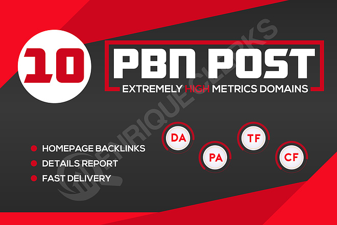 I will manually build 10 UNIQUE HOMEPAGE PBN backIinks on Extremely Domain Authority