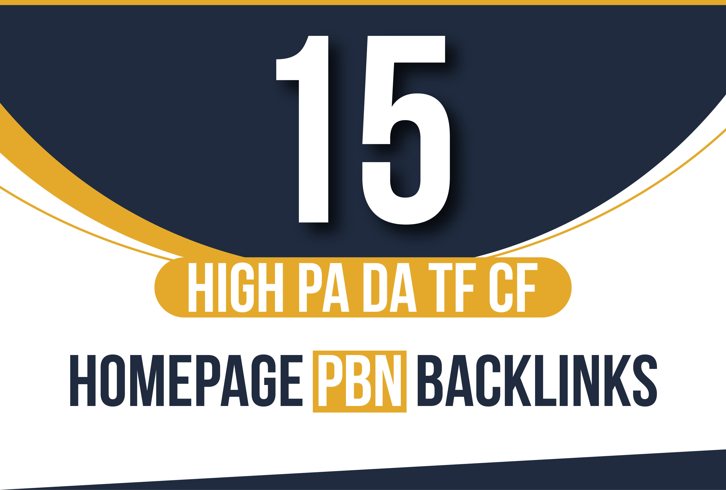 I will Manually 15 High pa da tf cf Homepage PBN Backlinks