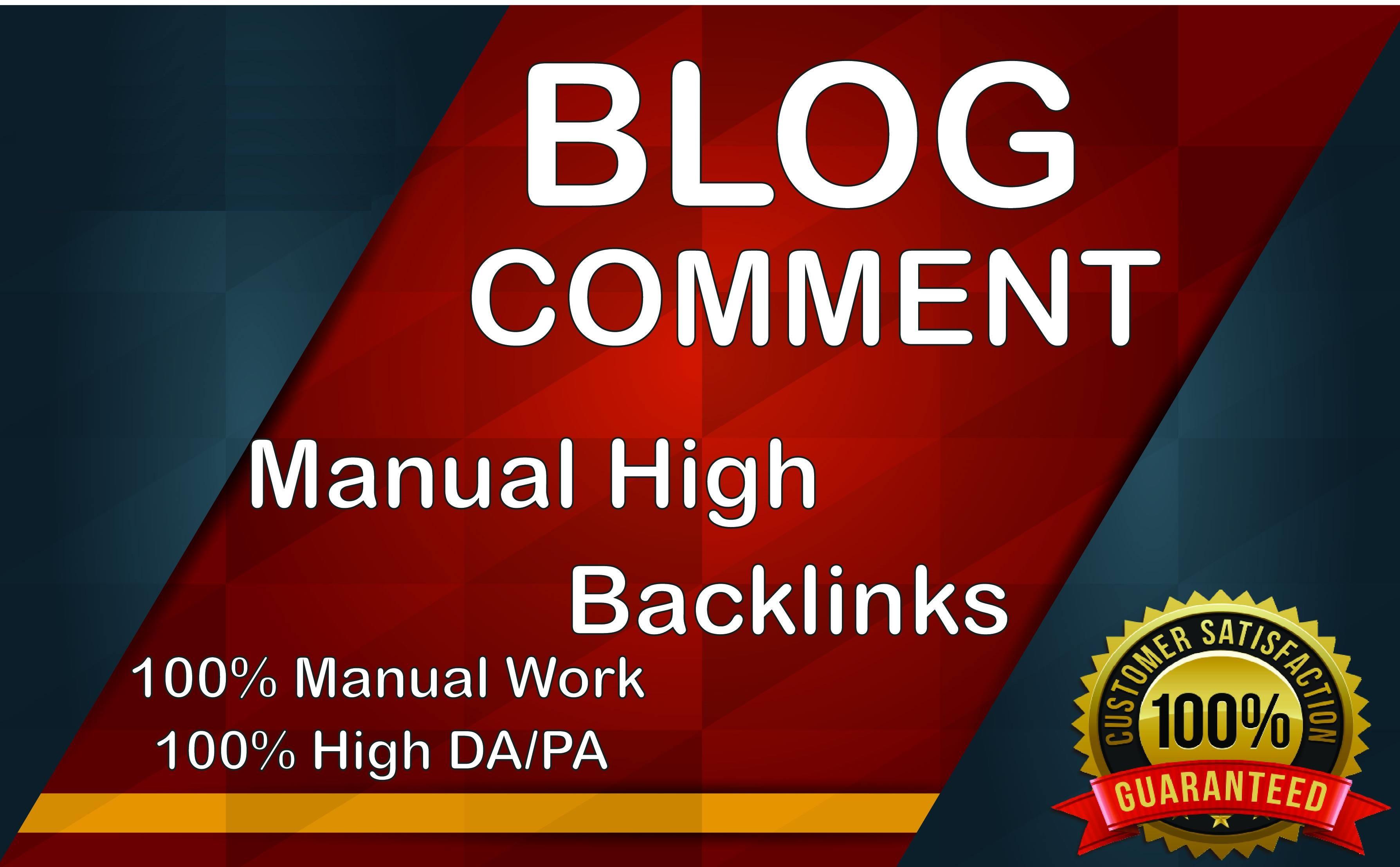 1k plus blog comment backlinks SEO manually