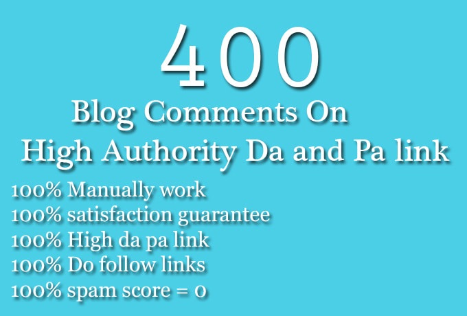 400 SEO blog comments backlinks dofollow nofollow