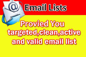 will provide you niche targeted email list