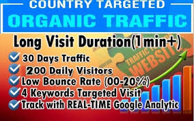 I will drive country targeted web traffic for 30 days