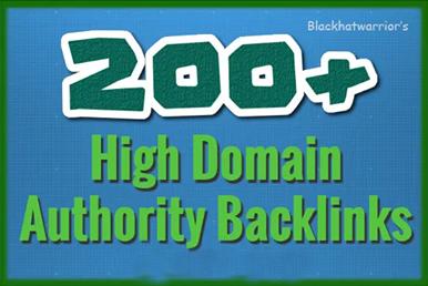 Create over 200 backlinks on high domain authority websites