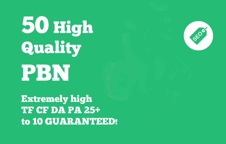Add 50 permanent high da pbn backlinks