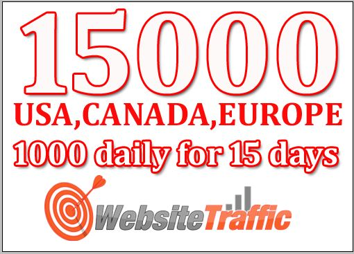 I will Drive targeted Adsense Safe high quality Web traffic from USA,  CANADA,  EUROPE