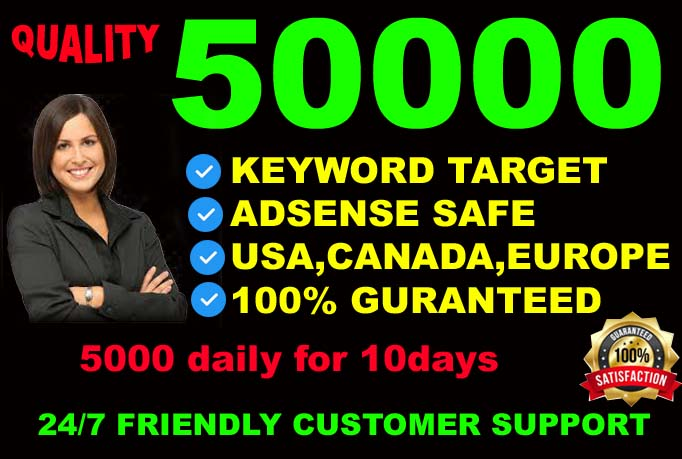 I will drive real genuine and keyword target visitors from USA