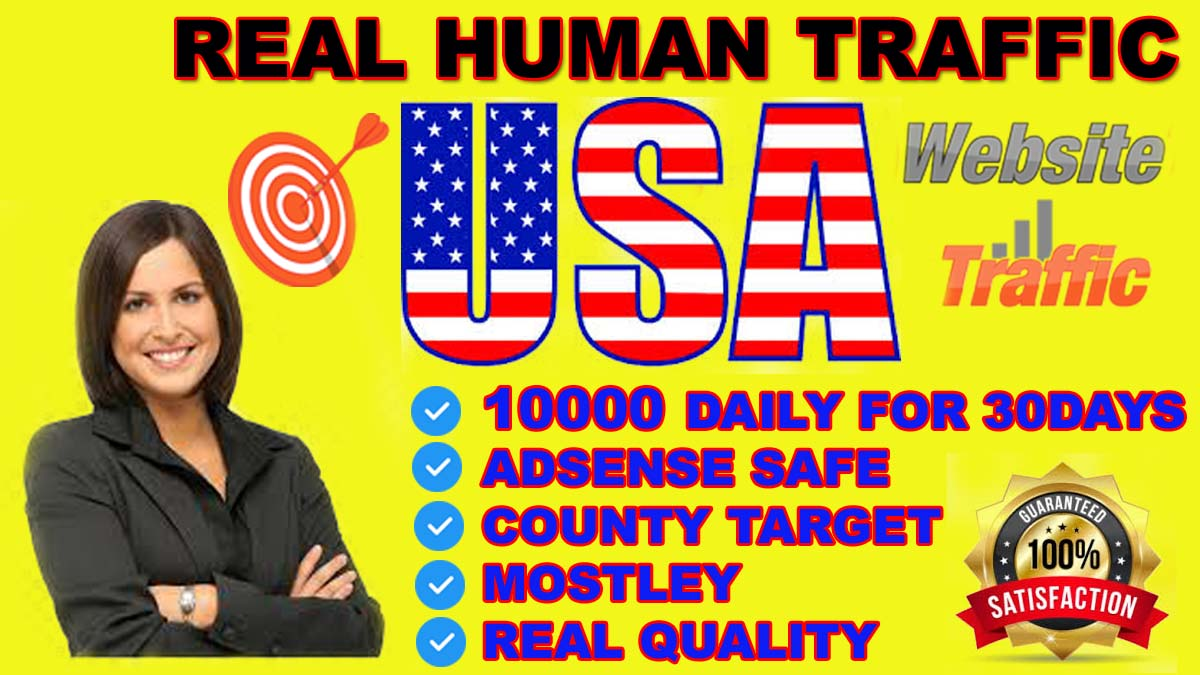 I will send REAL HUMAN WEB TRAFFIC FROM USA, CANADA, EUROPE