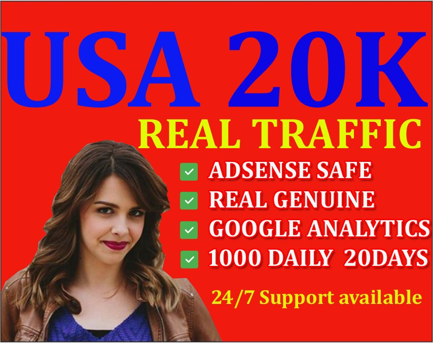 I will drive real traffic from USA, CANADA, EUROPE