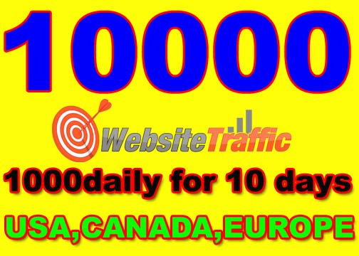 I will drive SPECIAL10000 real high quailty visitors from USA, CANADA, EUROPE