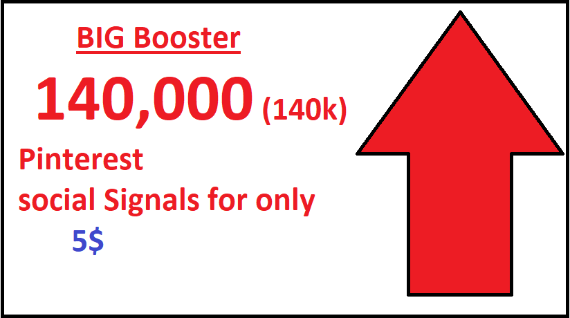 Big booster High PR9 140,000 pinterest seo social signals bookmarks