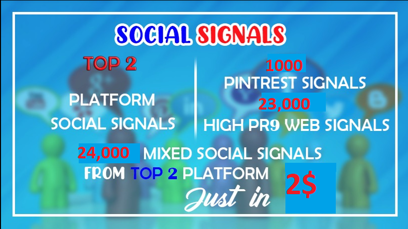 24,000+Top 2 Platform Web shares + Pinterest social signals