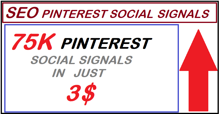 Super offer High PR9 75,000 pinterest seo social signals bookmarks