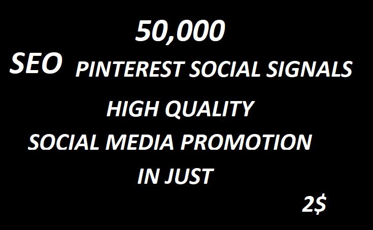 50,000+ SEO Pinterest Social Signals Bookmarks High Quality