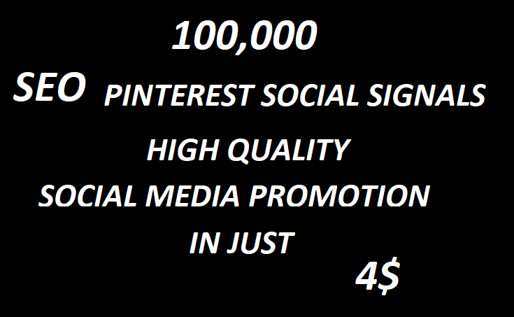 100,000+Super Offer SEO Pinterest Social Signals Bookmarks High Quality