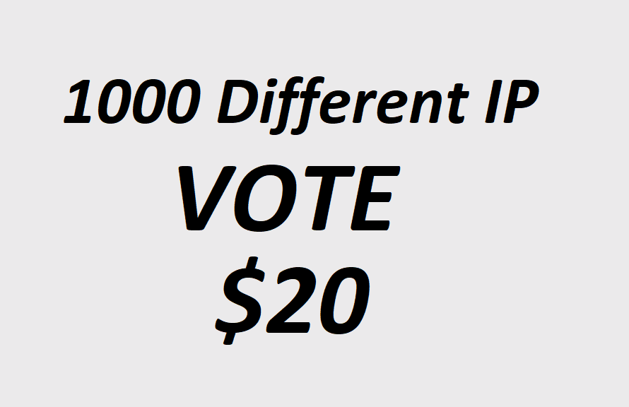 Improve 1000 Different IP Votes For Online Contest Poll