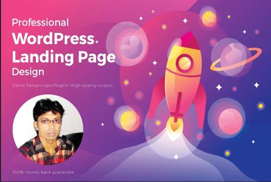 I will create responsive Wordpress landing page