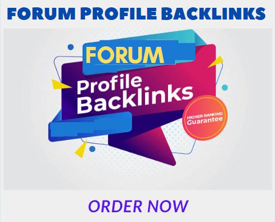 400 HQ forum profile backlinks high pa da sites