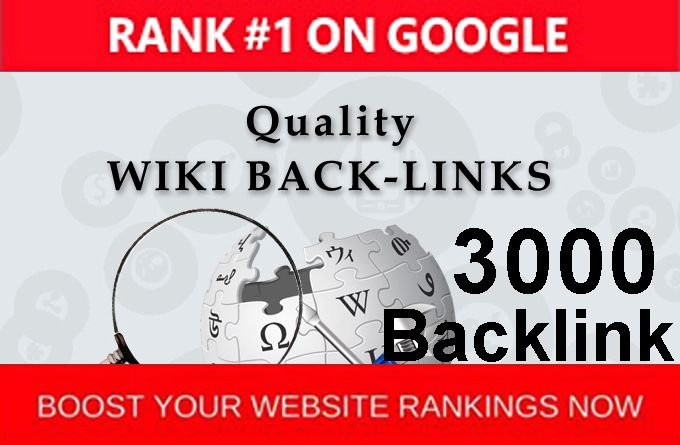 Provide 3000 Wiki Backlinks best for your websites as well as seo