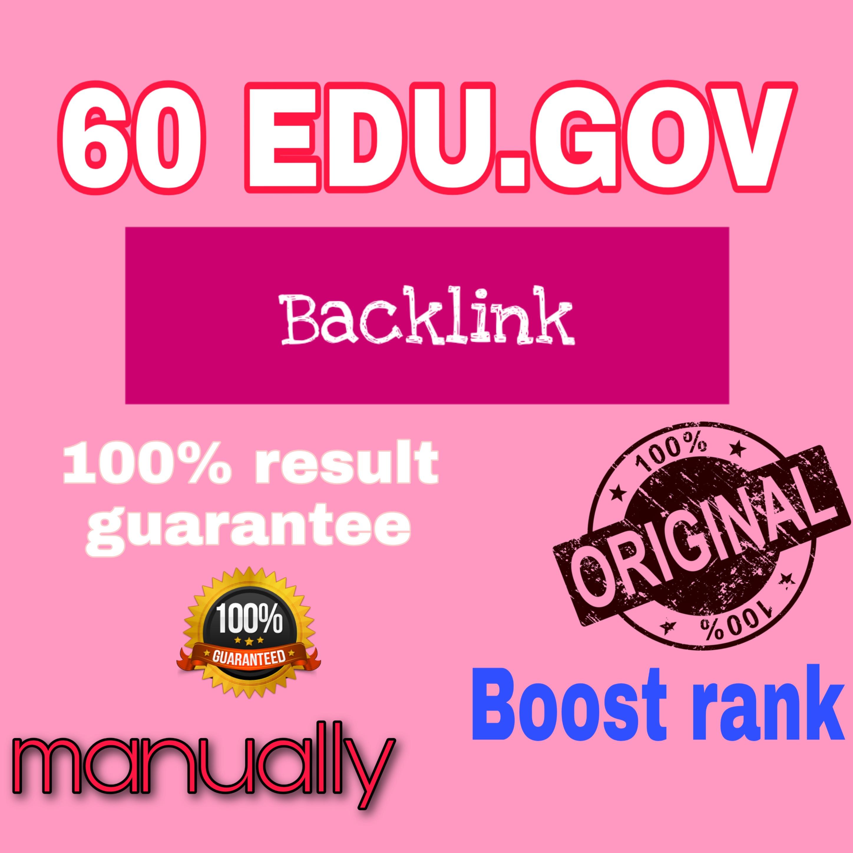 I will do 100 edu. gov. link building & backlinks for Google Ranking