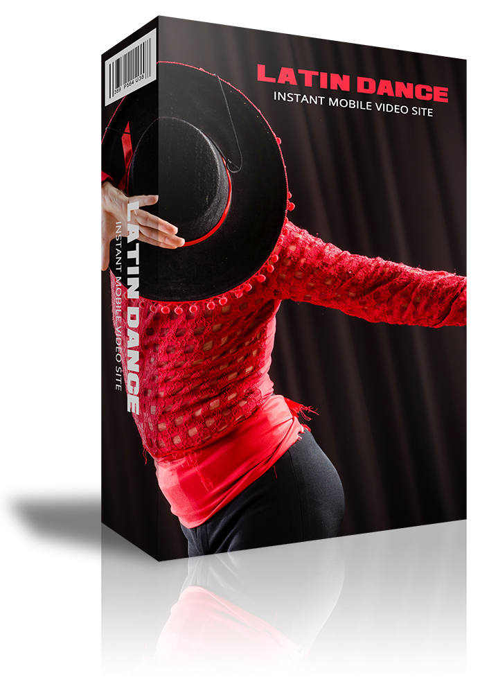 Latin Dance Instant Mobile Video Site. video site all about Latin dancing to promote your business on