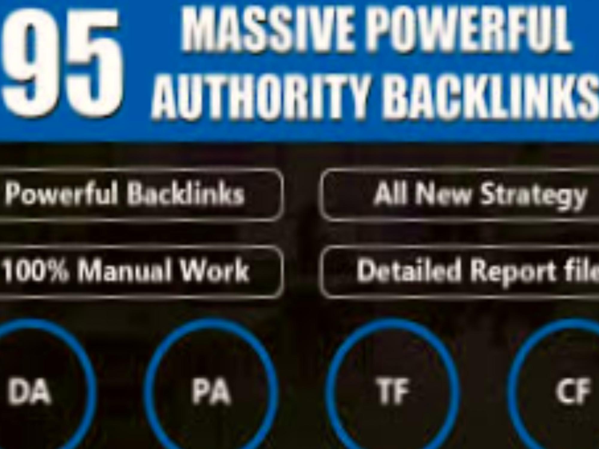 I will build 95 SEO backlinks manually and rank your website