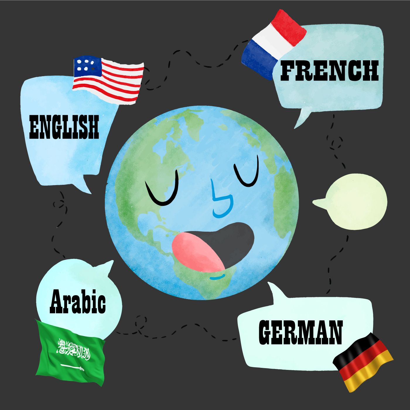 i will professionally translate in 4 languages Arabic,  German,  English and Frensh