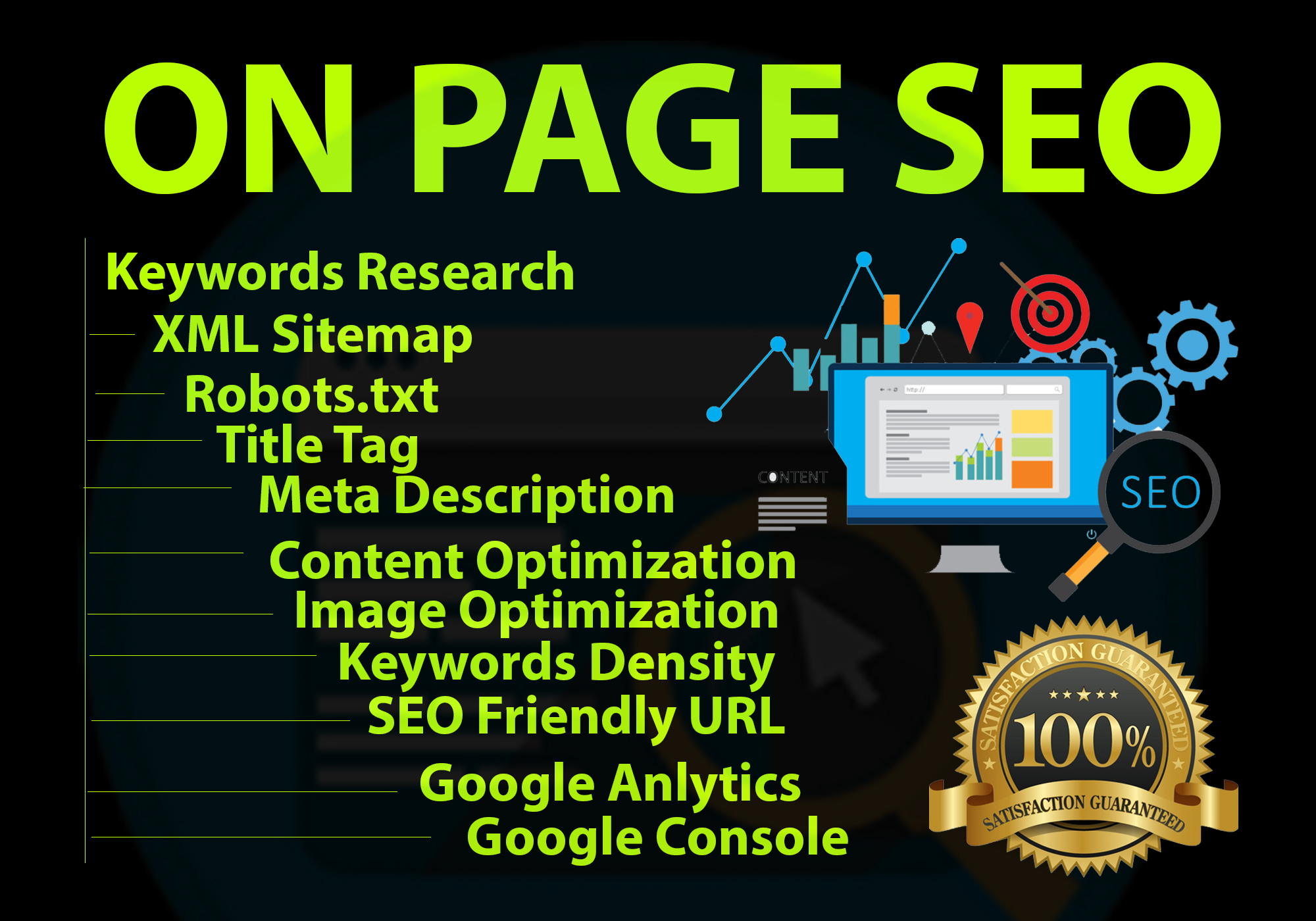I will do complete on page SEO with rich snippets