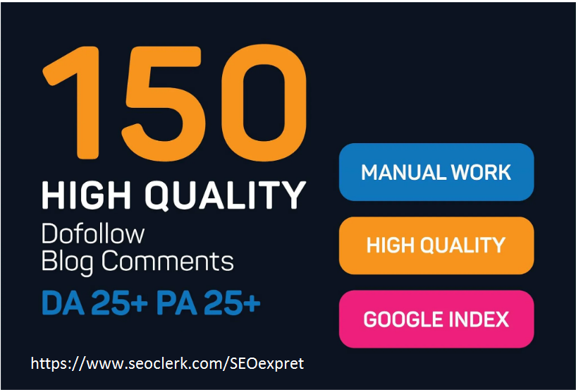 create 150 manually high quality do follow blog comments