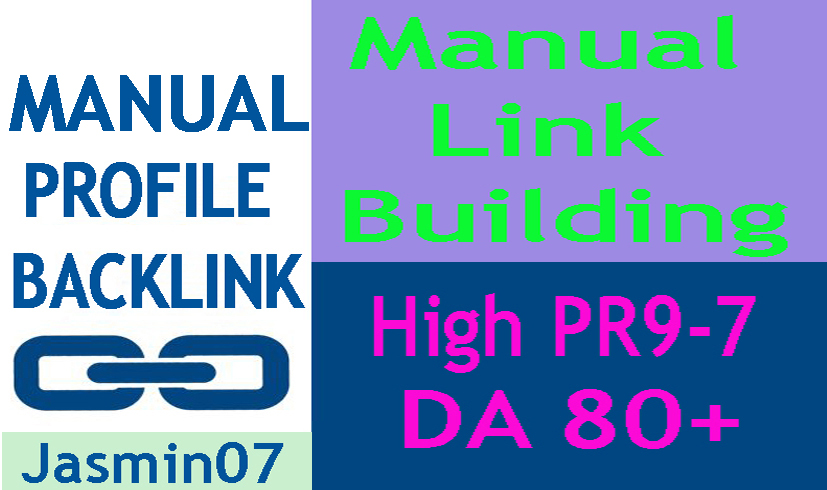 Manually Create 20 Profile Backlink High DA 80+
