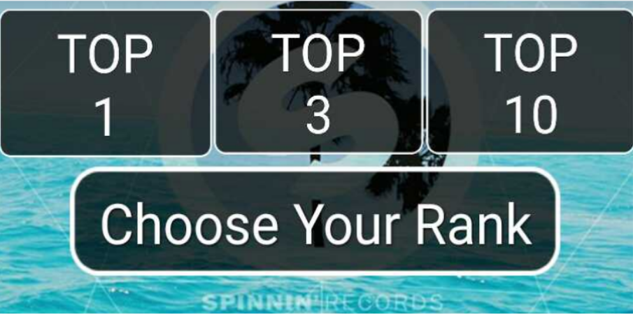 Guaranteed Top One Track Rank Your Spinnin Records Talent Pool Votes for 50 for 50