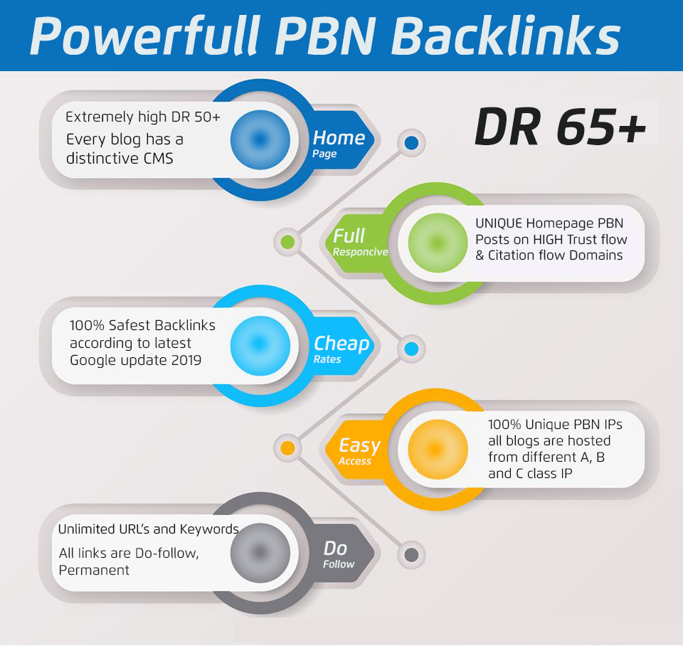 i will create 2 DR65+ Homepage permanent PBN Do Follow backlinks