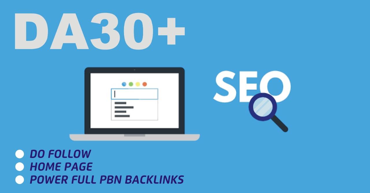 i will DO 5 DA30+ pbn Backlinks permanent sticky homepage