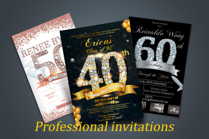 I will design your wedding,  birthday, party invitation card of your dream+