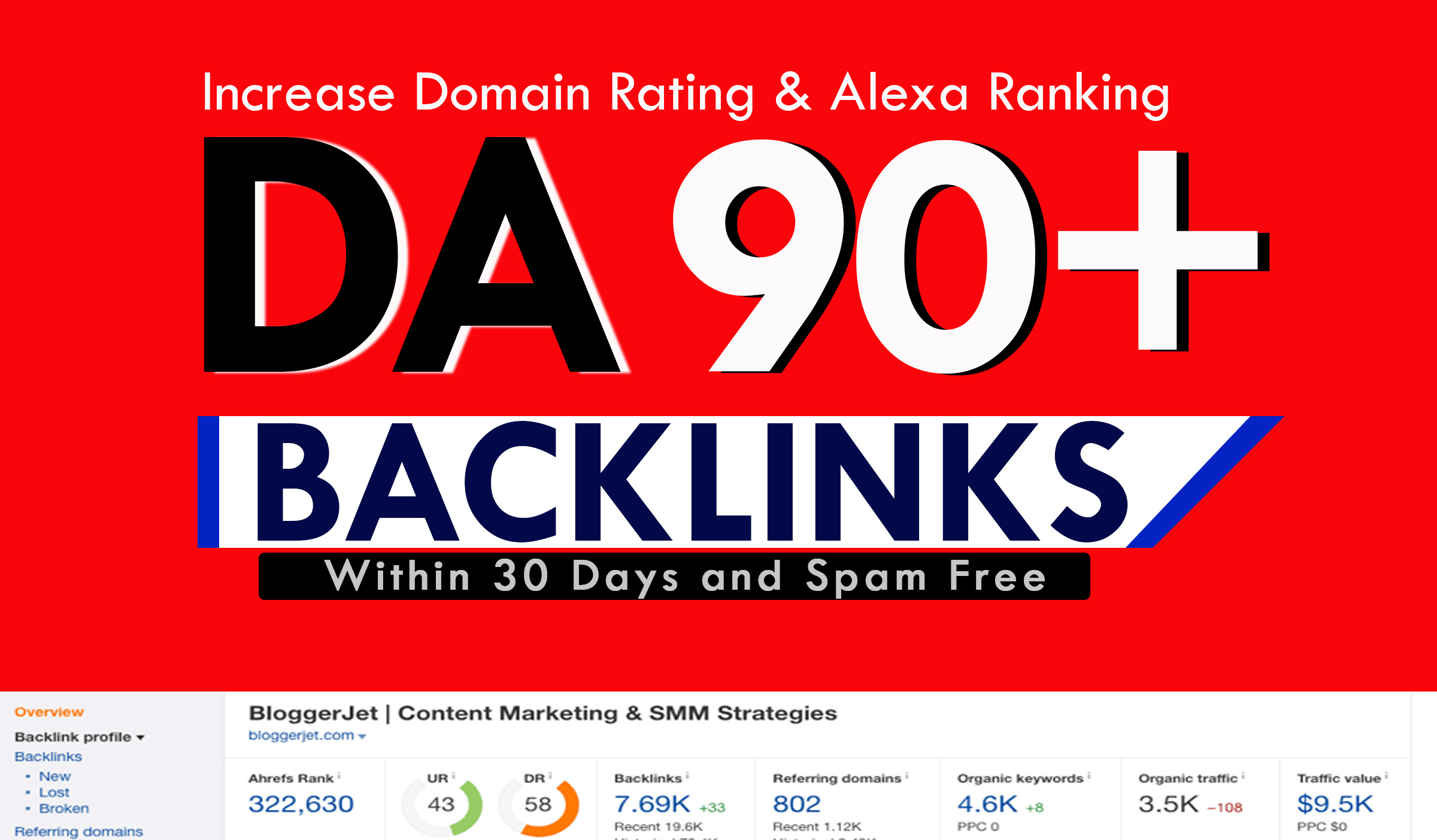 Build High Authority Dofollow Backlinks DR 50 to 90 boost Ranking