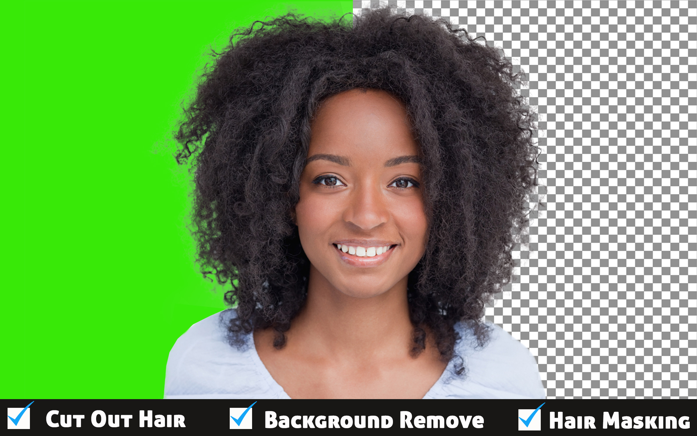 I will do photoshop hair masking or cut out hair professionally