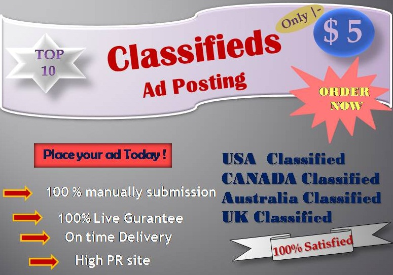 I will do classified ad posting by manually with white hat method